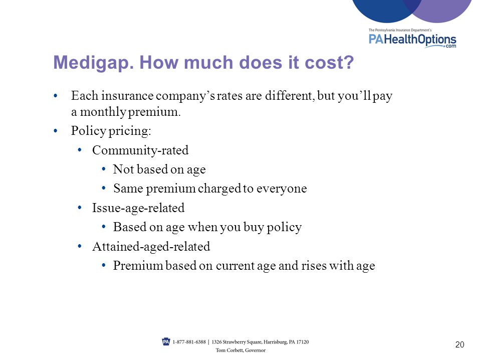 Medigap. How much does it cost