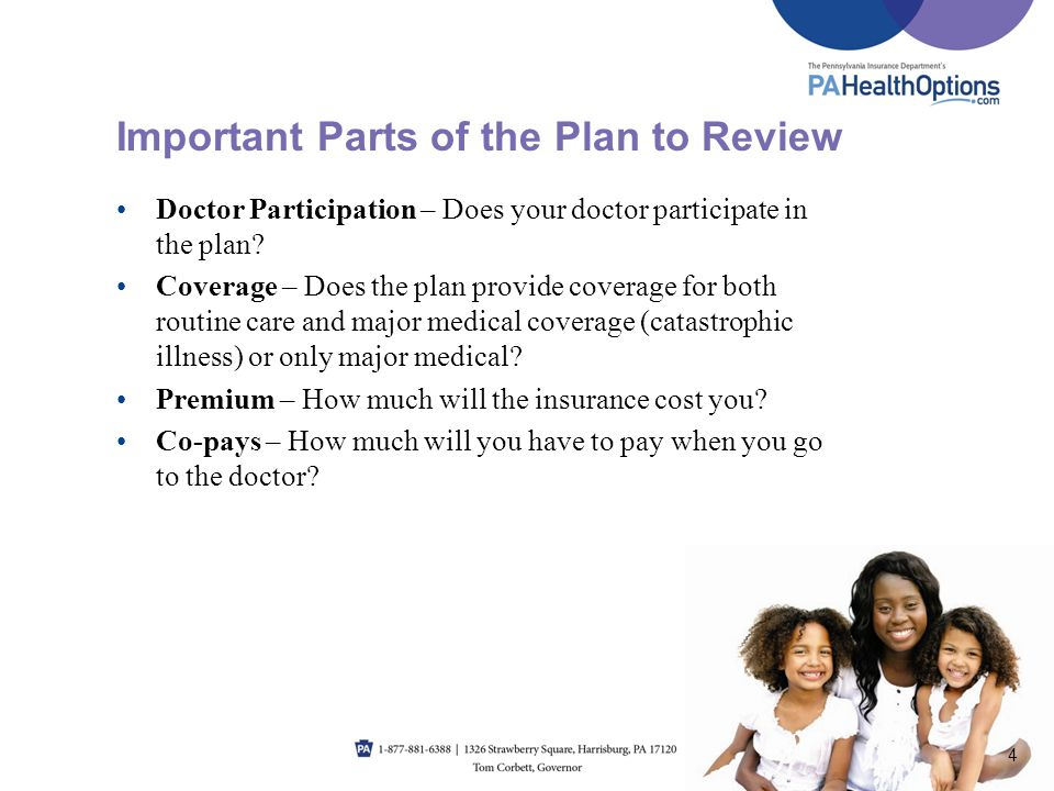 Important Parts of the Plan to Review