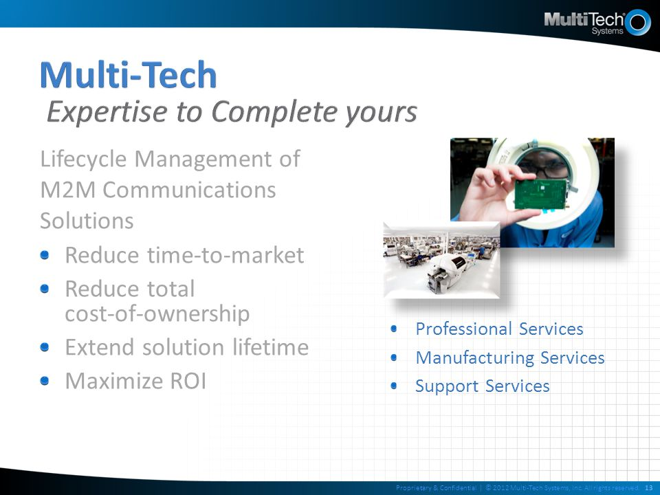 Multi-Tech Expertise to Complete yours