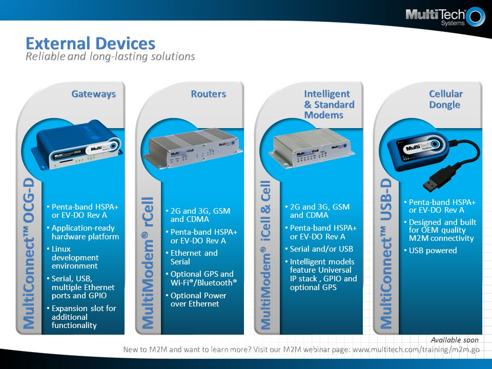 External Devices Reliable and long-lasting solutions