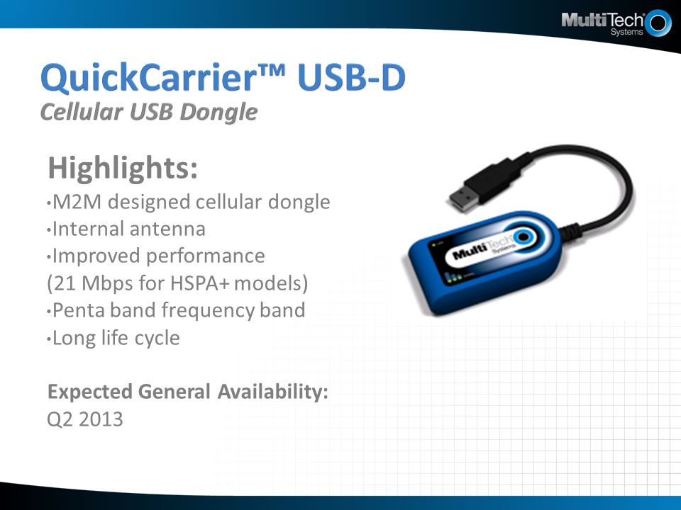 QuickCarrier™ USB-D Cellular USB Dongle