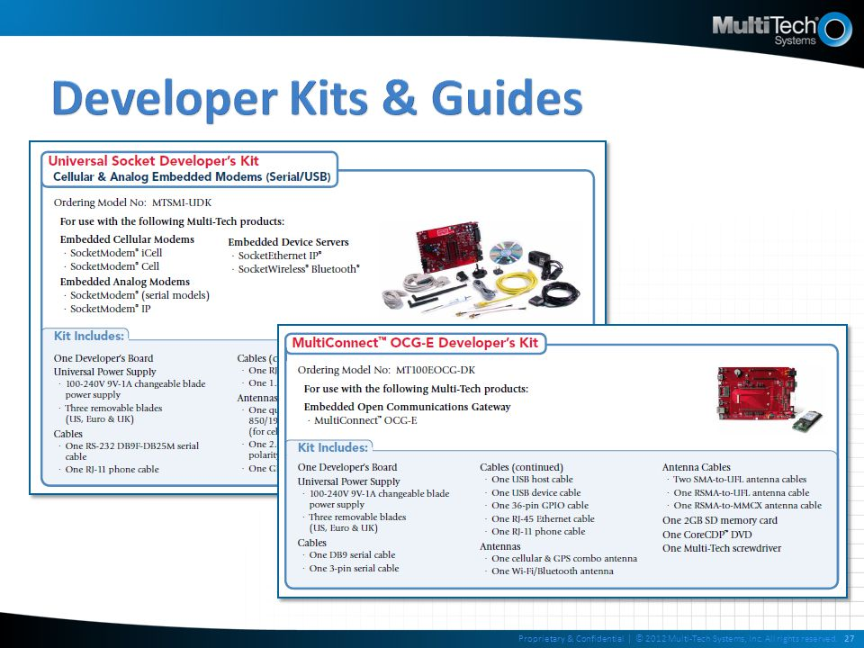 Developer Kits & Guides