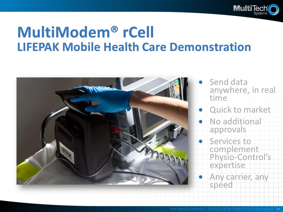 MultiModem® rCell LIFEPAK Mobile Health Care Demonstration