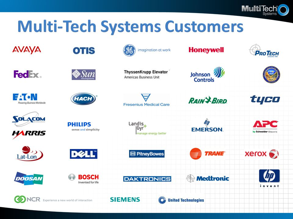 Multi-Tech Systems Customers