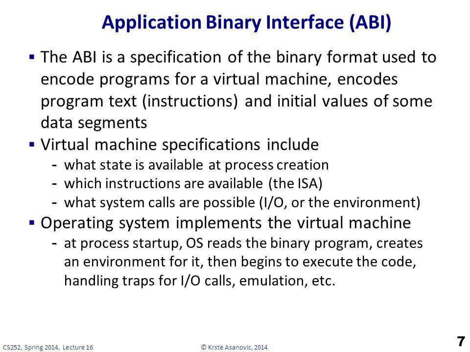 Application Binary Interface (ABI)