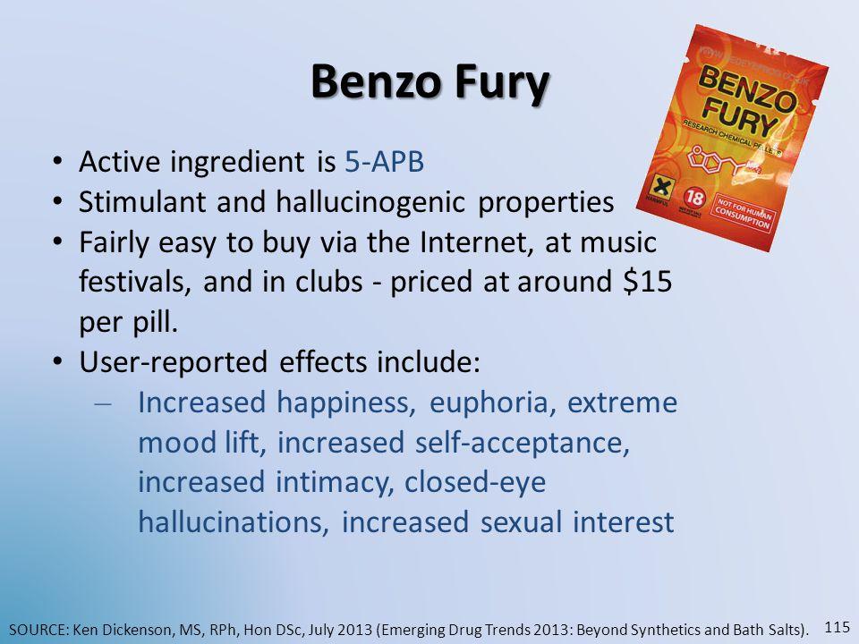 Benzo Fury Active ingredient is 5-APB