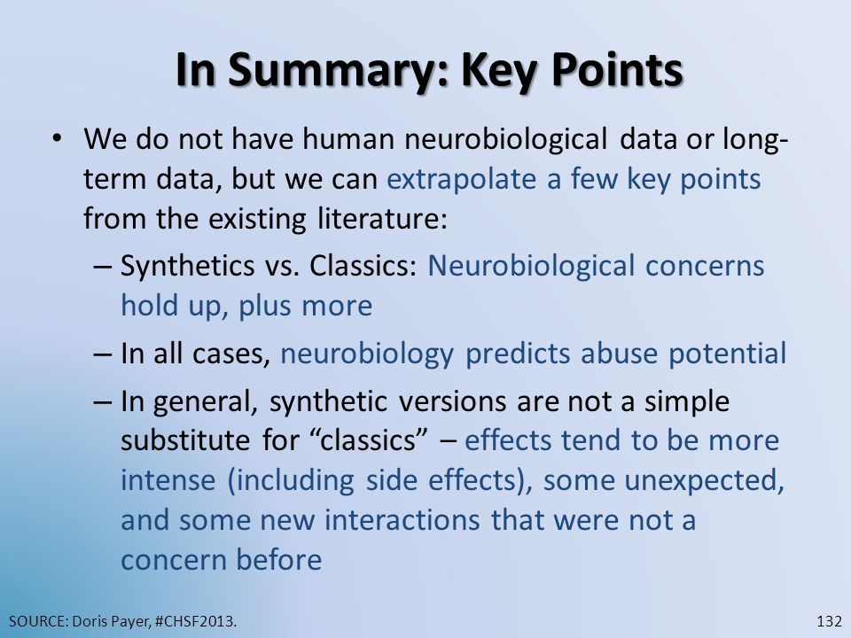 In Summary: Key Points