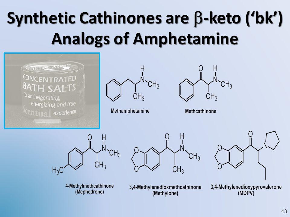 Synthetic Cathinones are b-keto ('bk') Analogs of Amphetamine