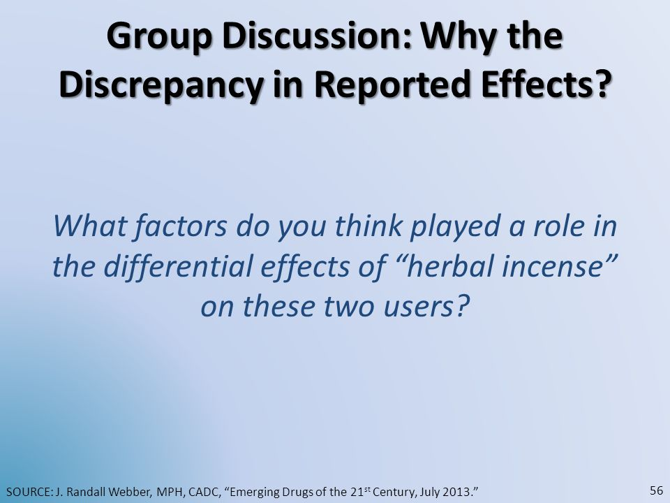 Group Discussion: Why the Discrepancy in Reported Effects