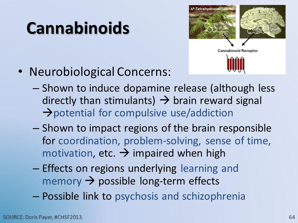 Cannabinoids Neurobiological Concerns:
