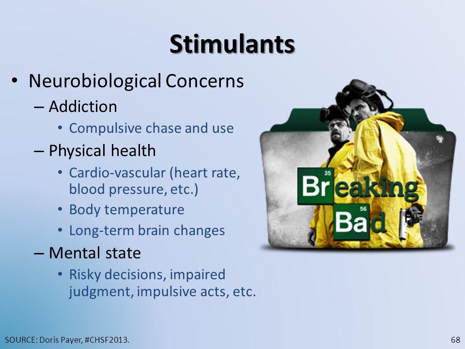 Stimulants Neurobiological Concerns Addiction Physical health