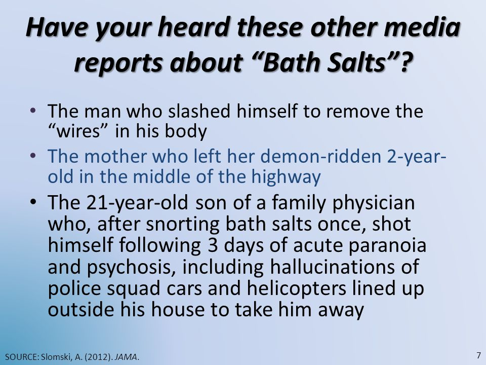Have your heard these other media reports about Bath Salts