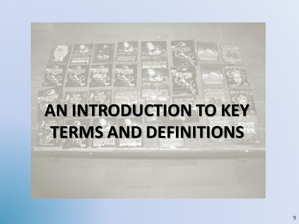 An introduction to KEY terms and definitions