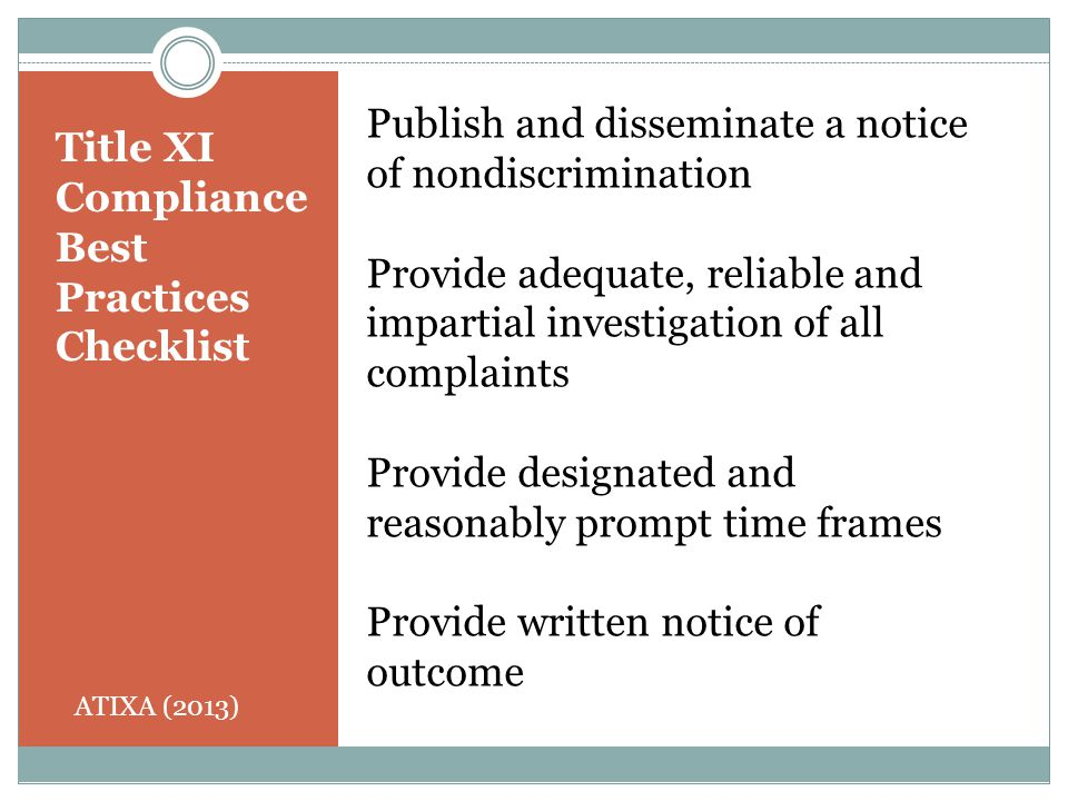 Publish and disseminate a notice of nondiscrimination