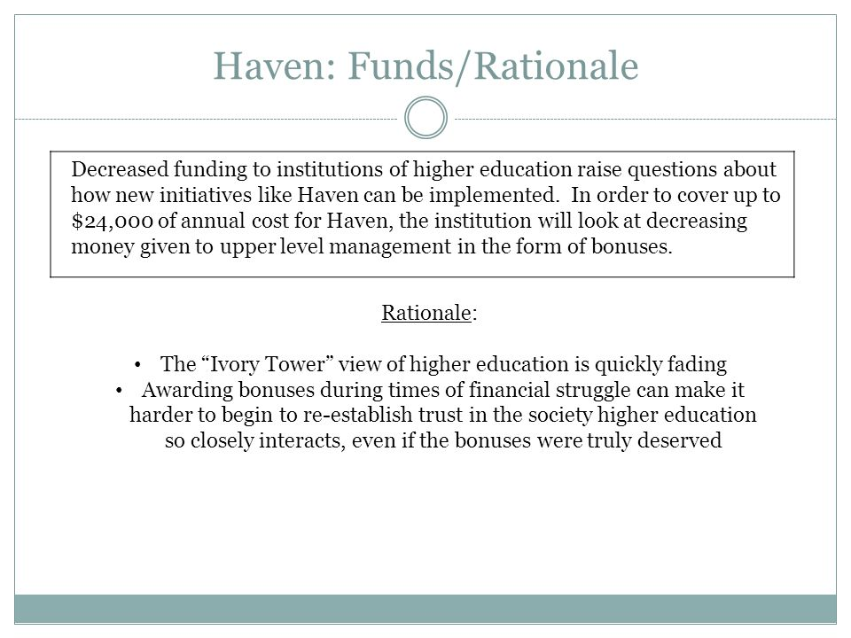 Haven: Funds/Rationale