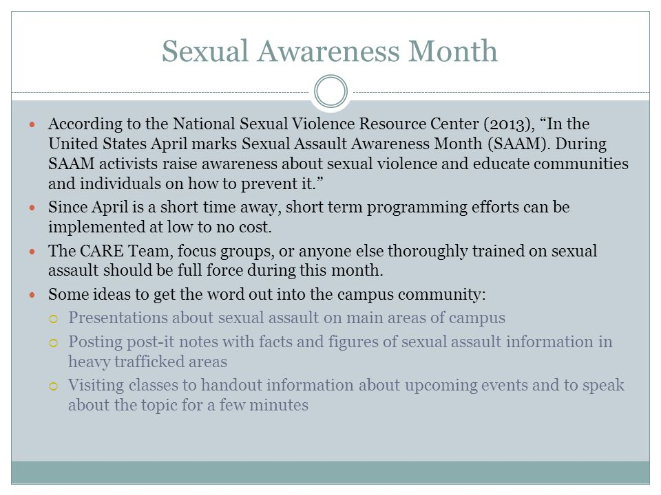 Sexual Awareness Month
