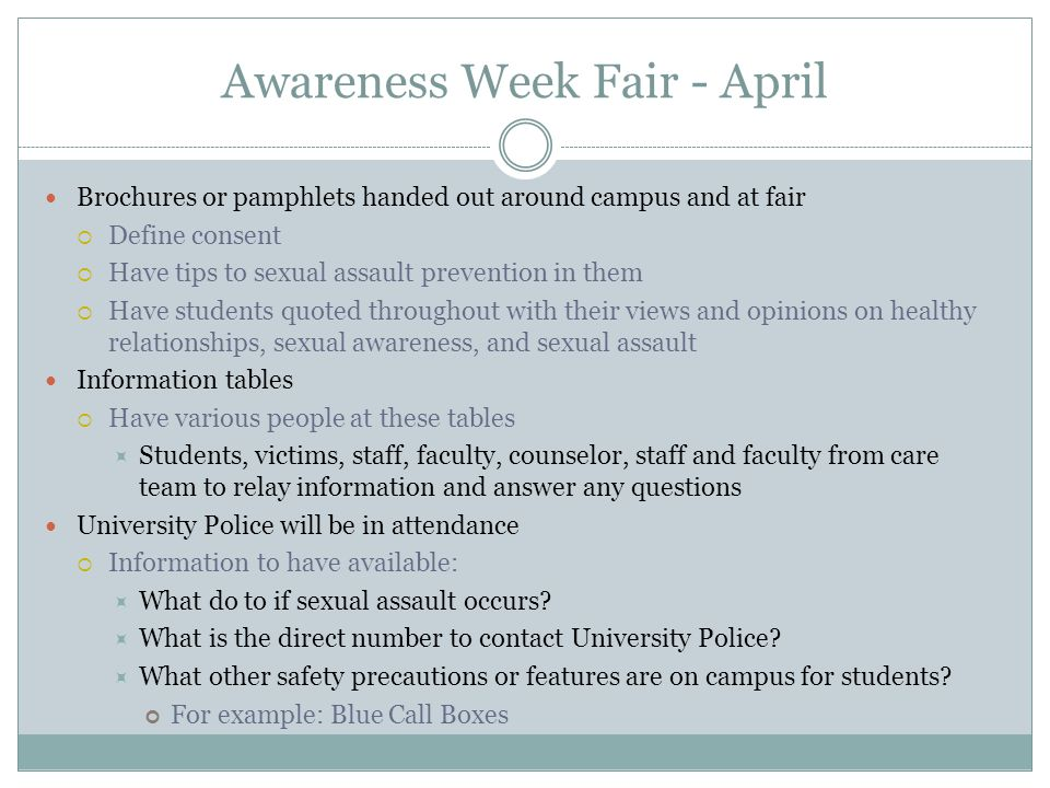 Awareness Week Fair - April