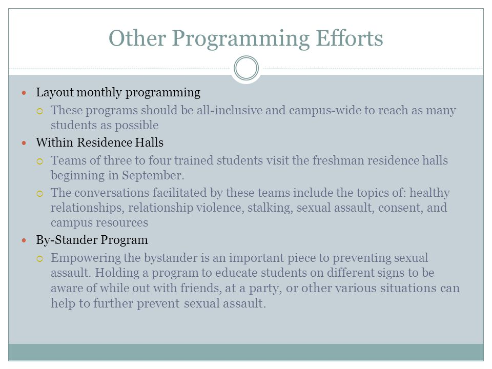 Other Programming Efforts