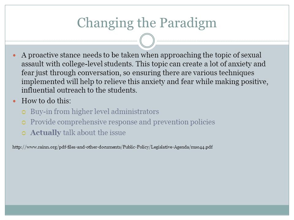 Changing the Paradigm