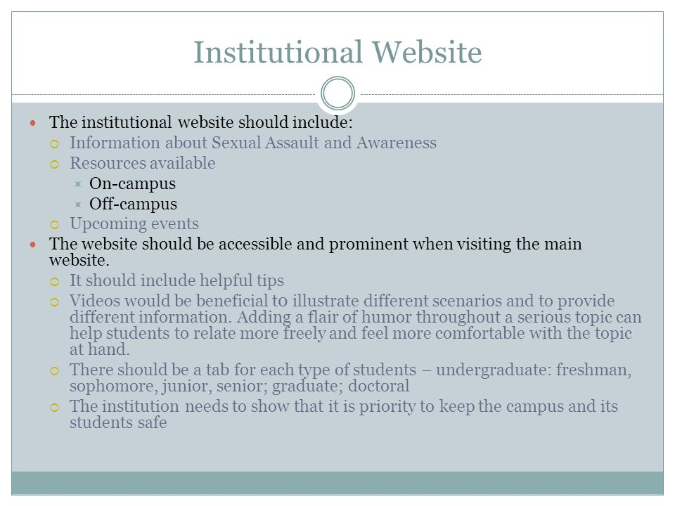 Institutional Website