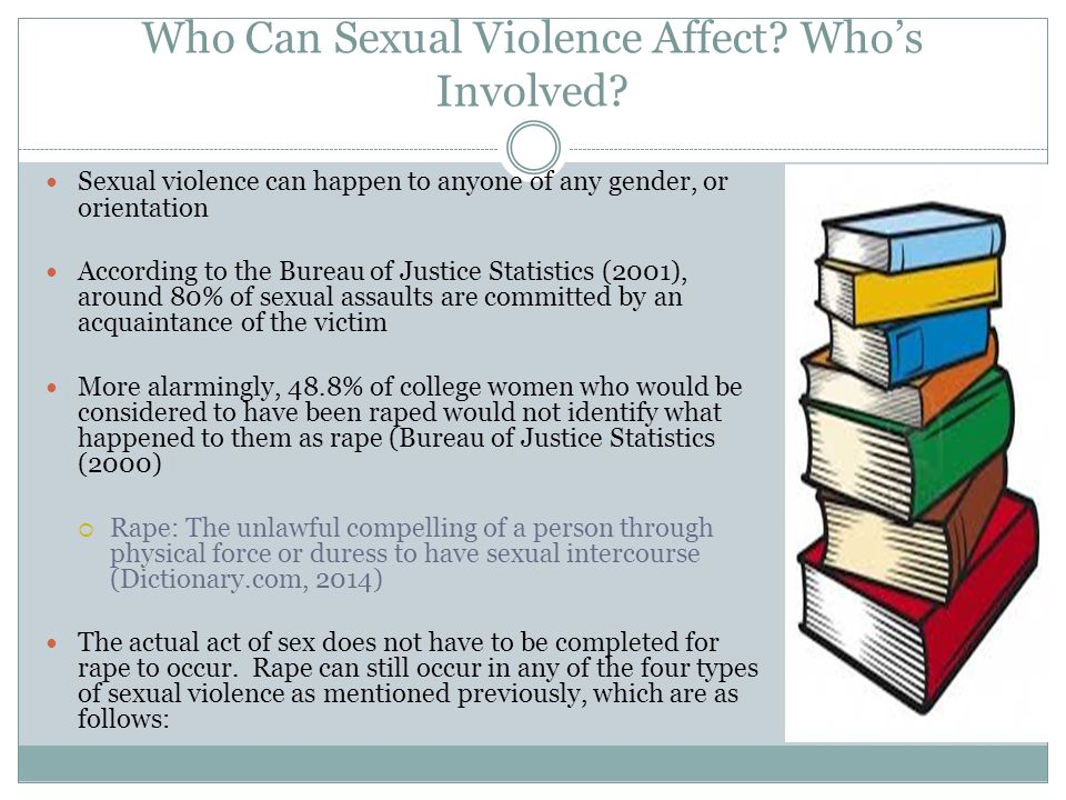 Who Can Sexual Violence Affect Who's Involved