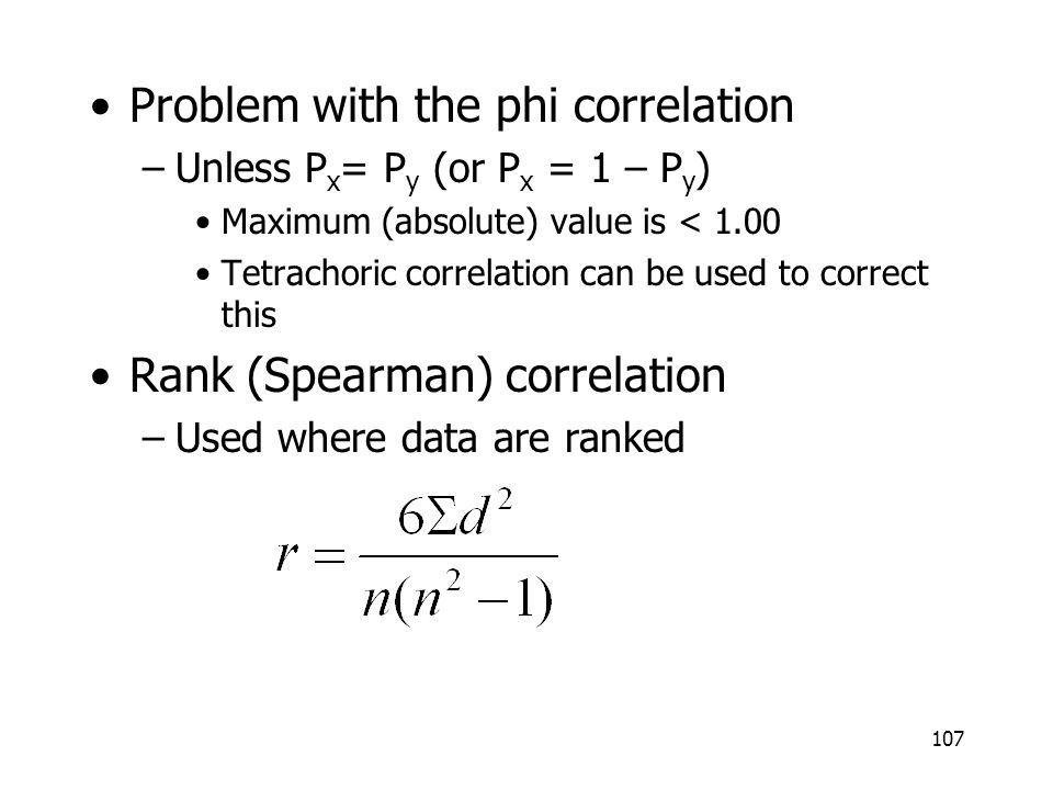 Problem with the phi correlation