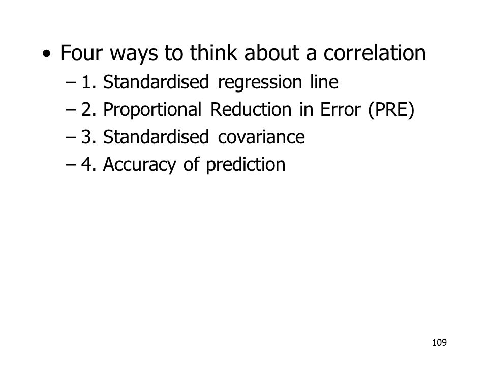 Four ways to think about a correlation