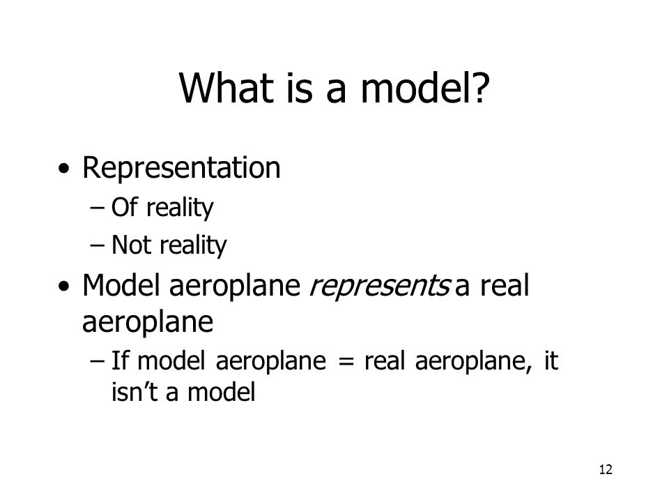 What is a model Representation
