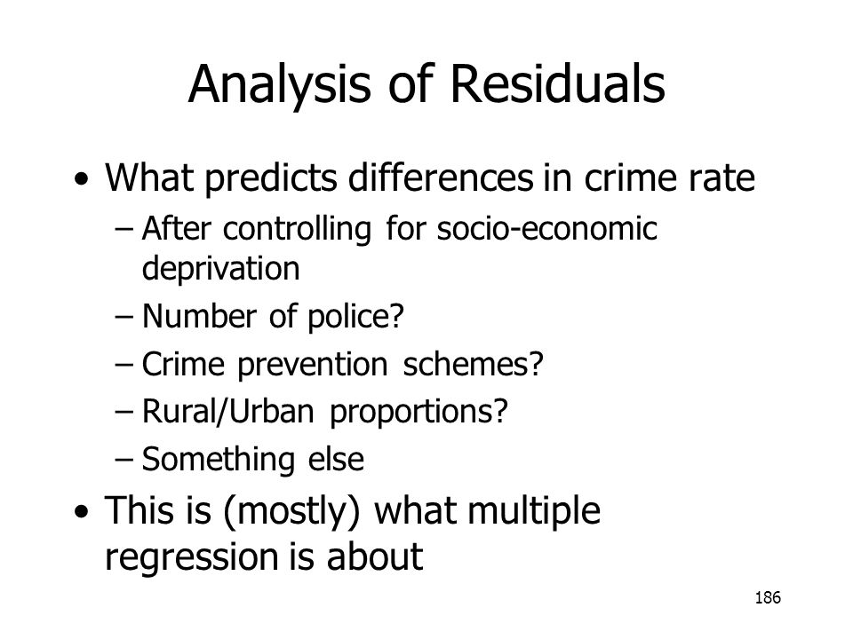 Analysis of Residuals What predicts differences in crime rate