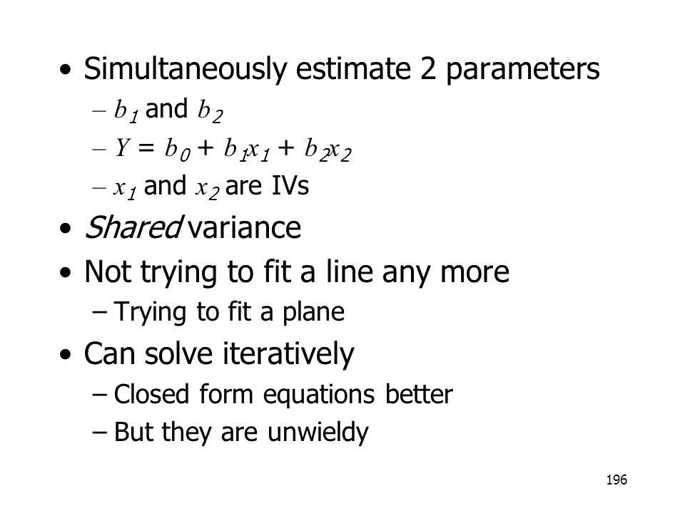 Simultaneously estimate 2 parameters