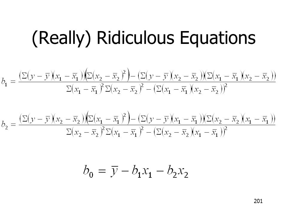 (Really) Ridiculous Equations