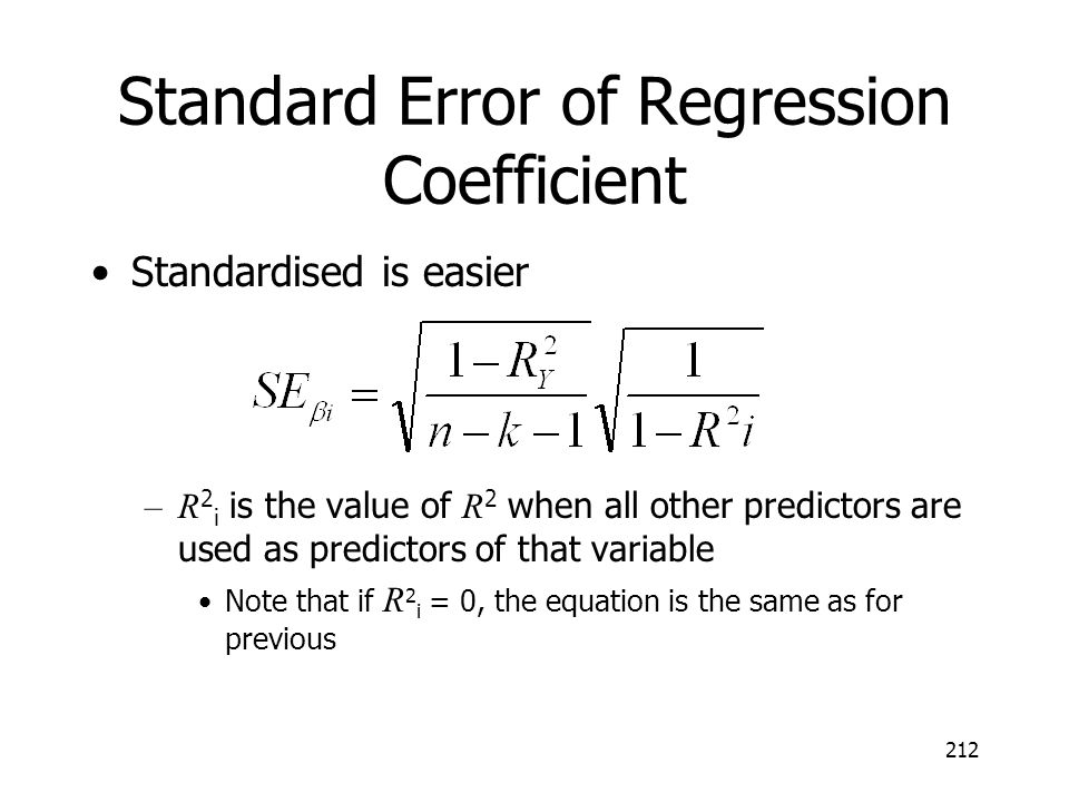 Standard Error of Regression Coefficient