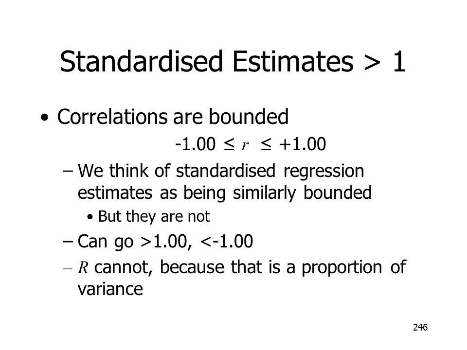 Standardised Estimates > 1