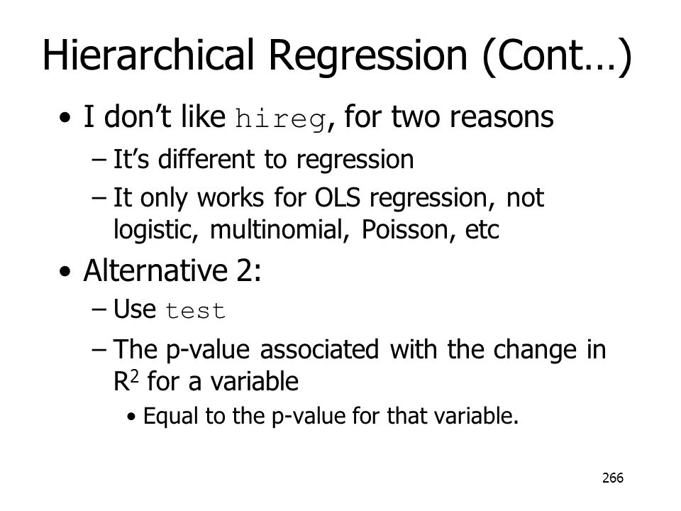 Hierarchical Regression (Cont…)