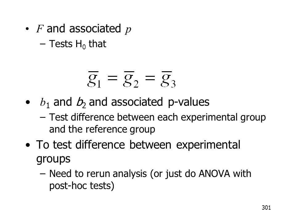 b1 and b2 and associated p-values