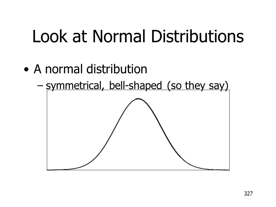 Look at Normal Distributions