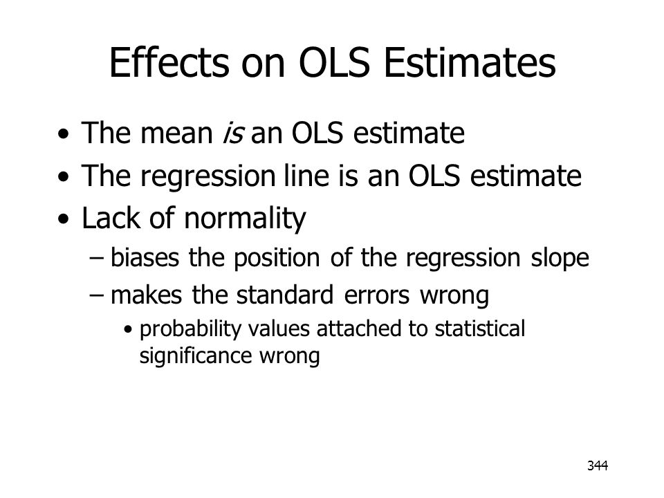 Effects on OLS Estimates