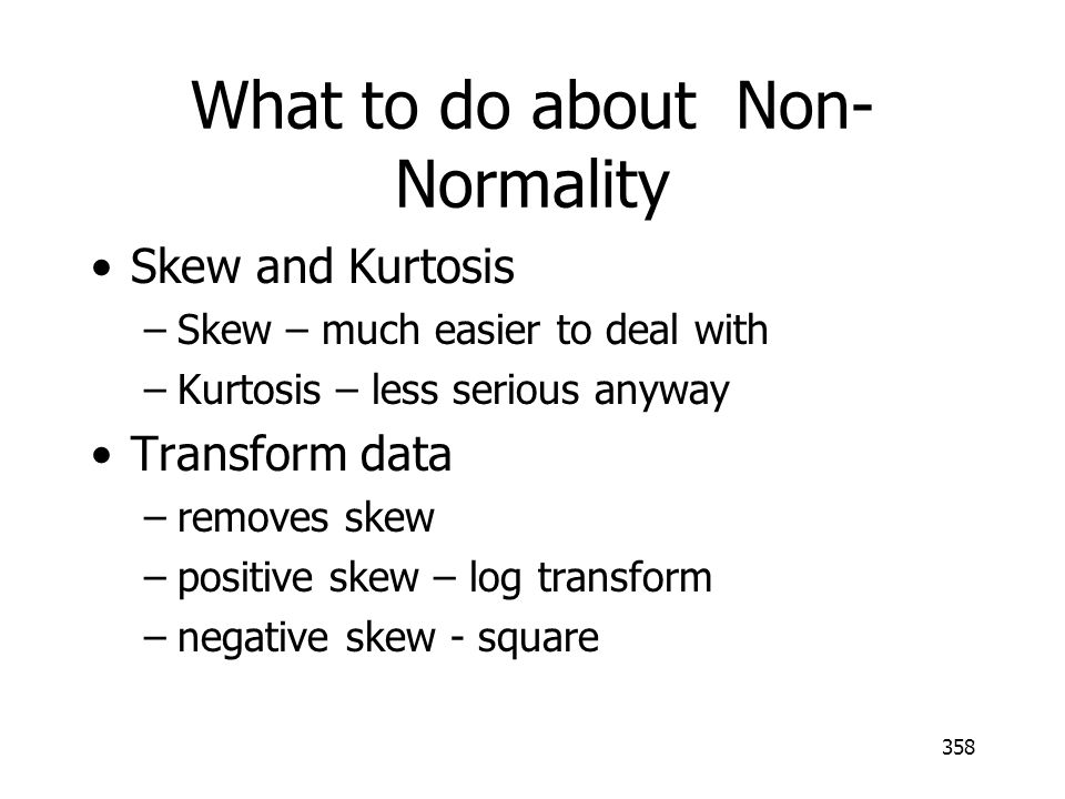 What to do about Non-Normality