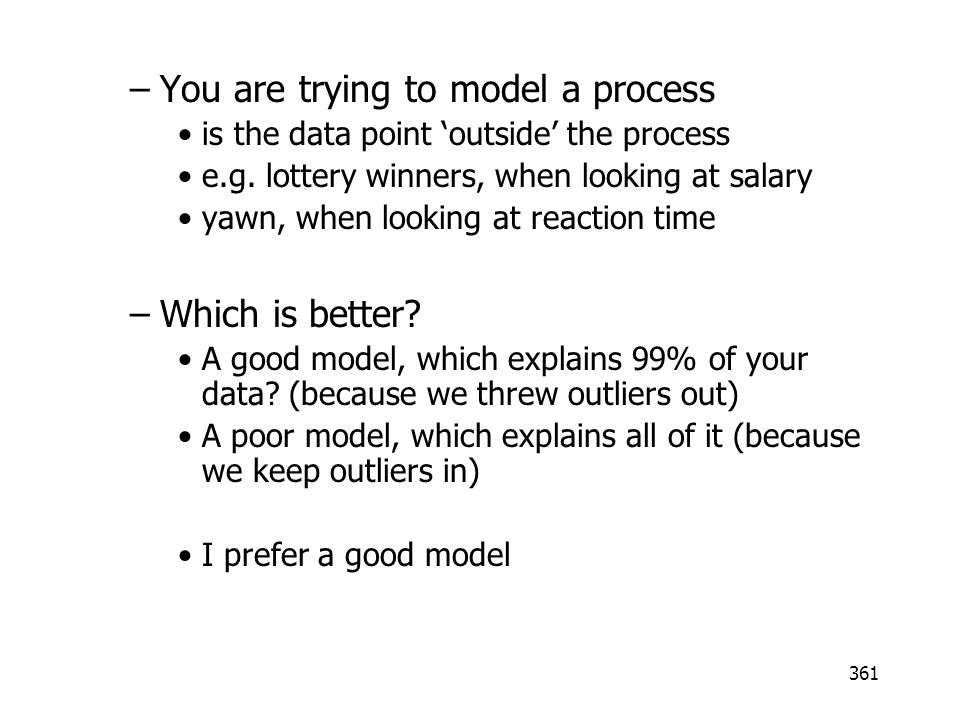 You are trying to model a process