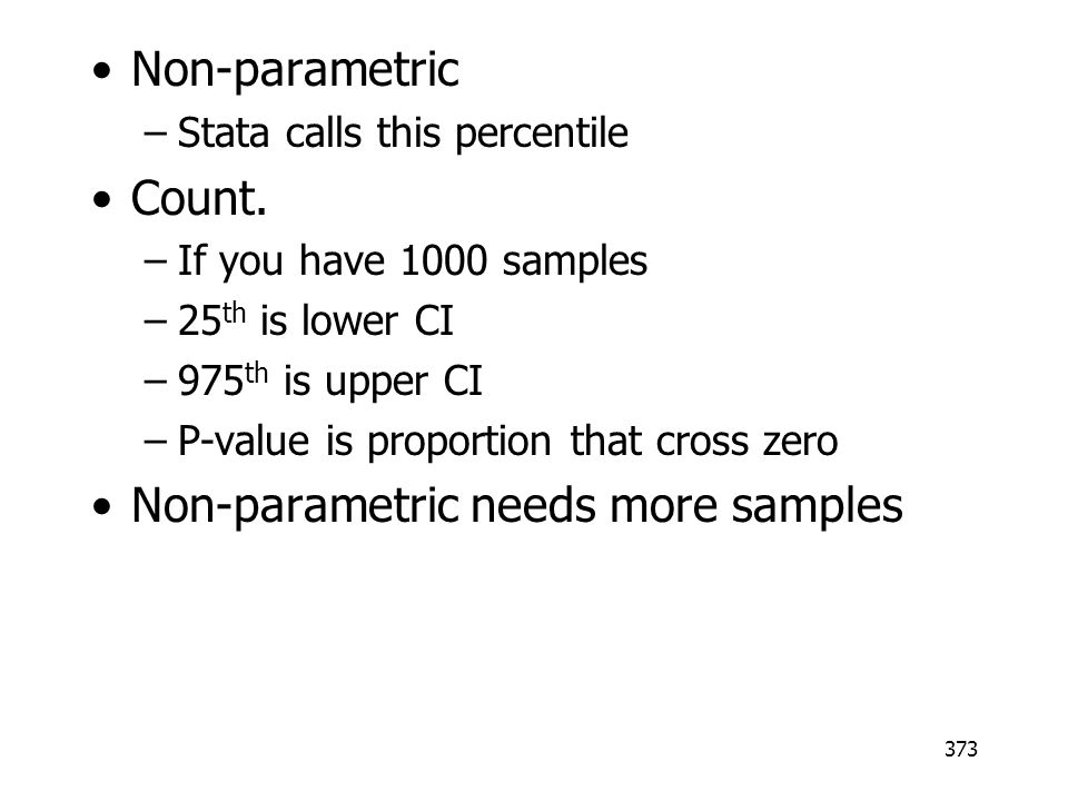 Non-parametric needs more samples