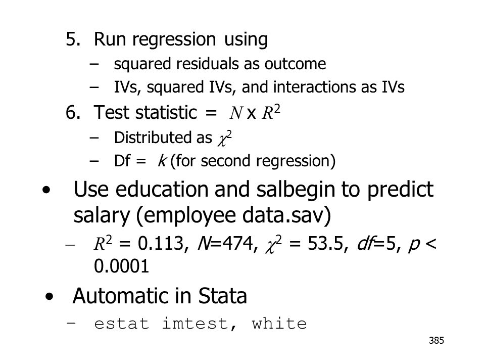 Use education and salbegin to predict salary (employee data.sav)