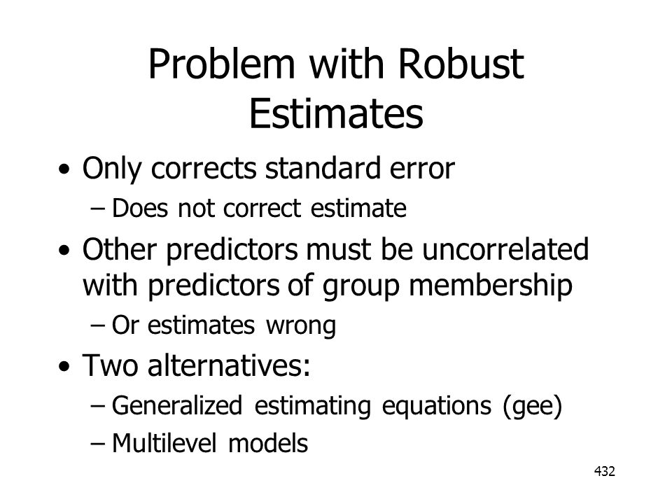 Problem with Robust Estimates