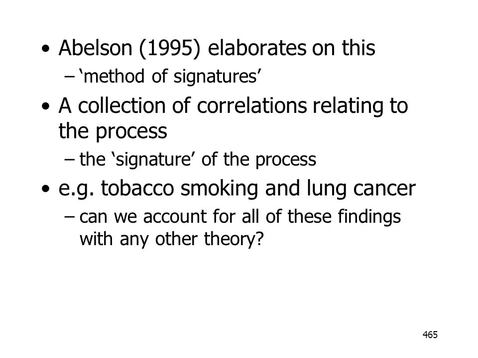Abelson (1995) elaborates on this