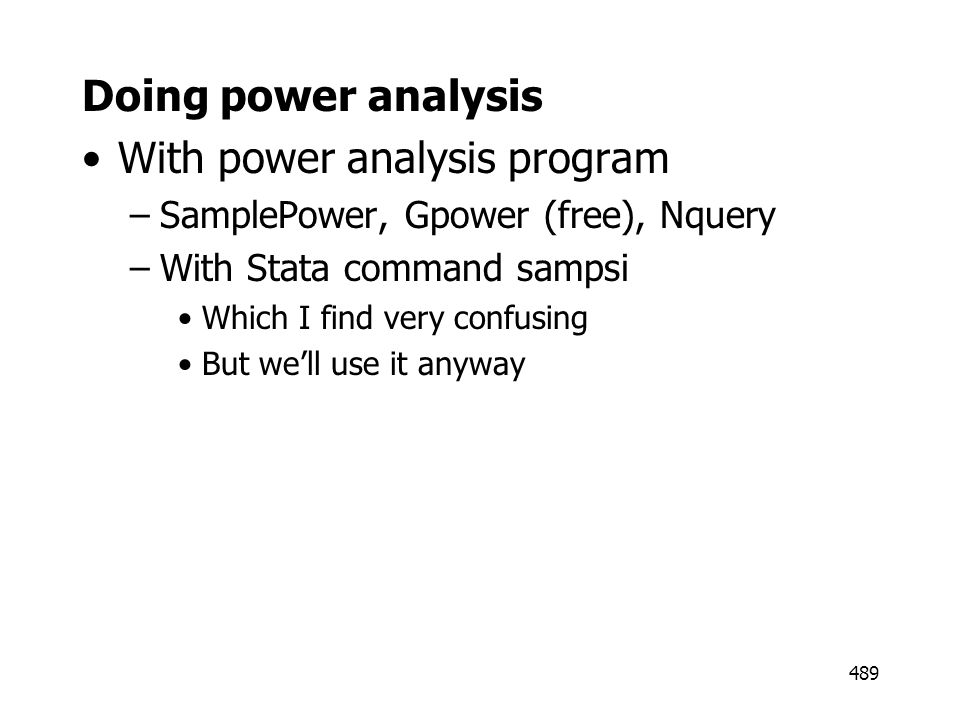 With power analysis program