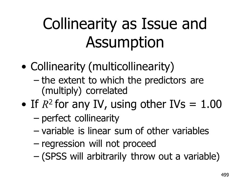 Collinearity as Issue and Assumption
