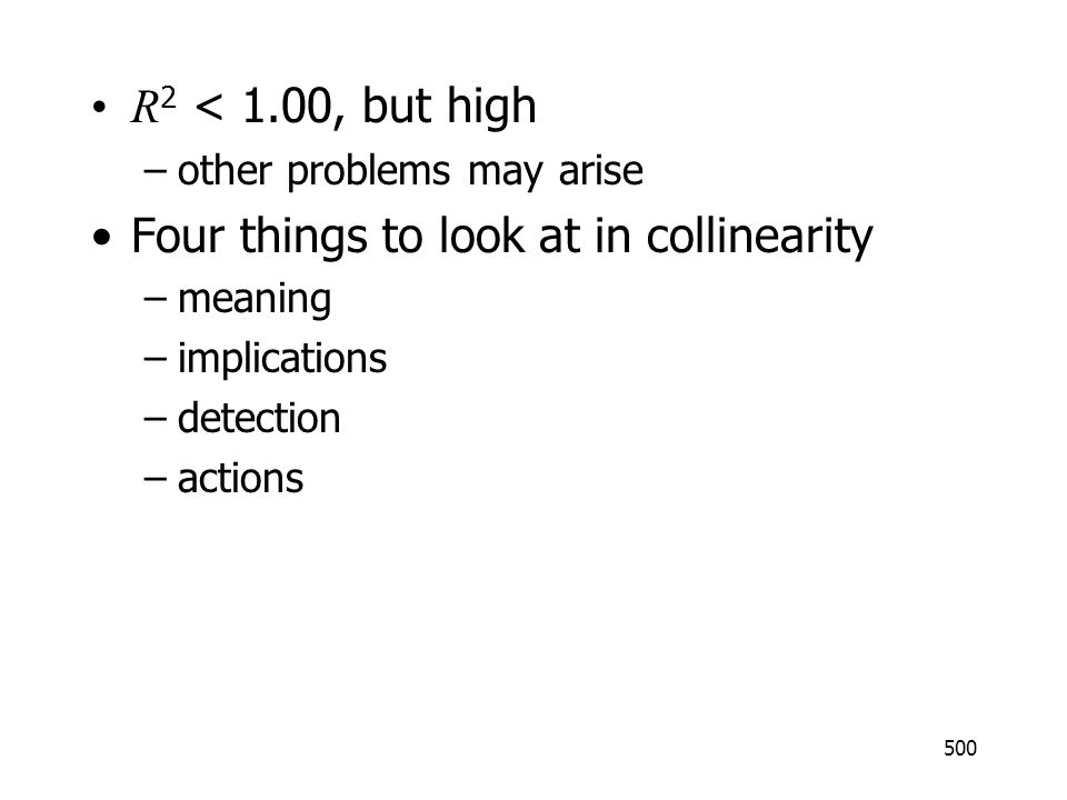 Four things to look at in collinearity