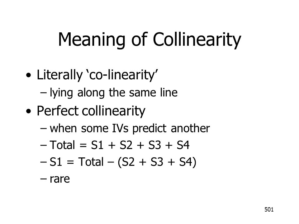 Meaning of Collinearity