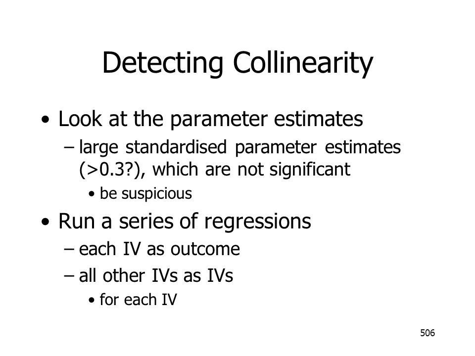 Detecting Collinearity