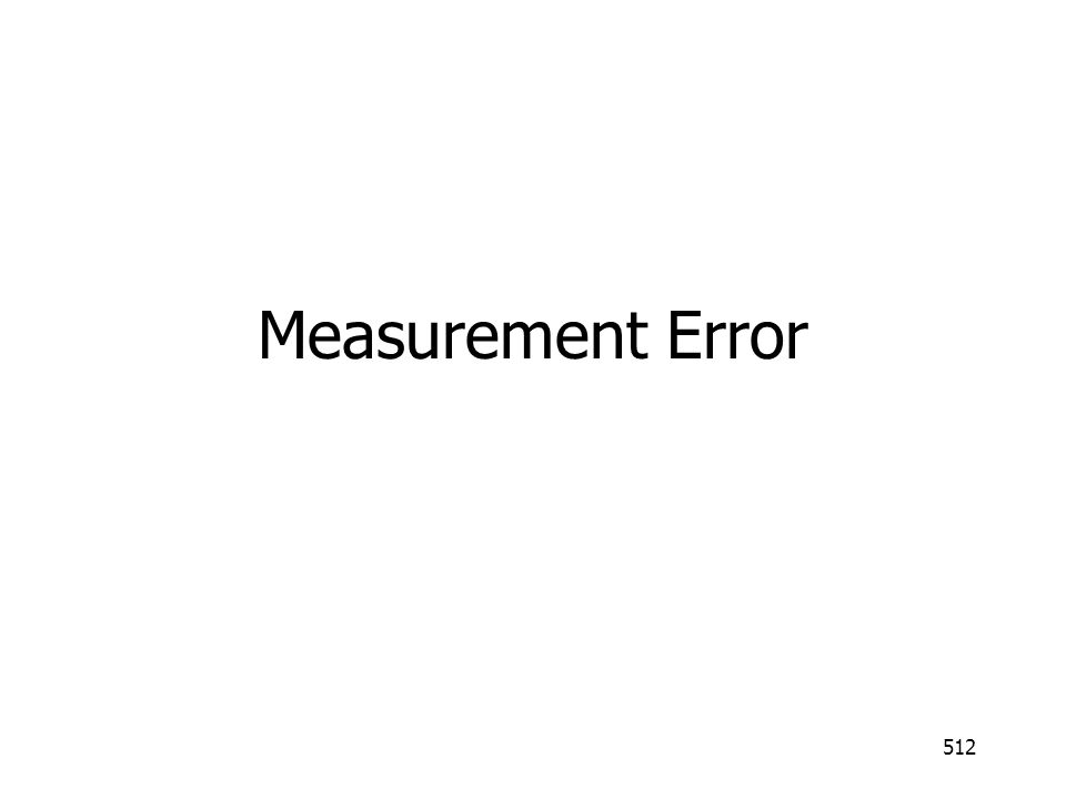 Measurement Error
