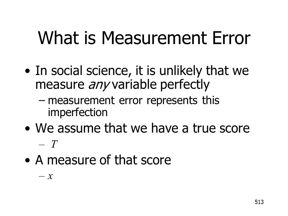 What is Measurement Error